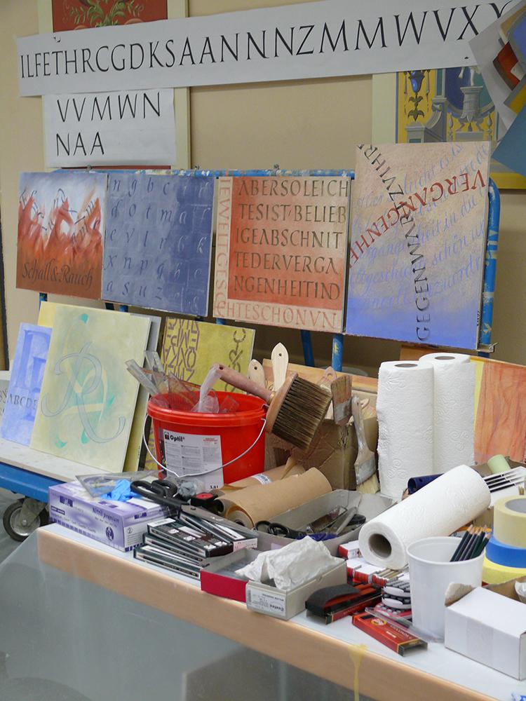 Musterplatten und Werkzeuge