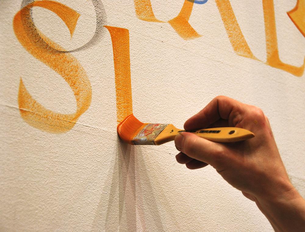 Breitpinsel-Kalligrafie