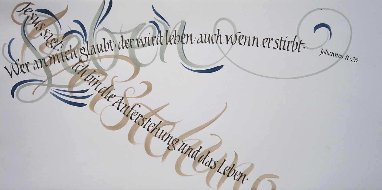 farbige Kalligrafie