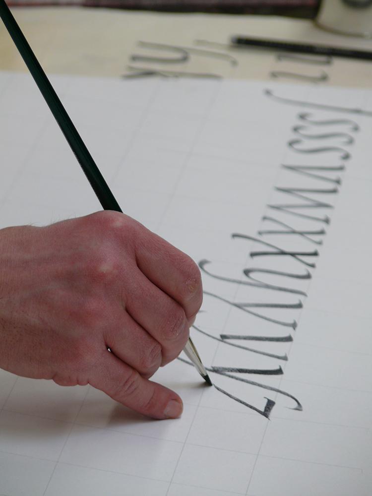 Hmanistische Kursive schreiben