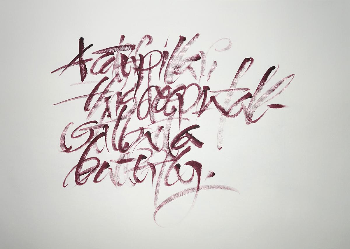 skripturale Kalligrafie