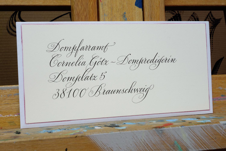 Korrekte Adressierung Briefe : Kalligrafie propfe adressierung brief
