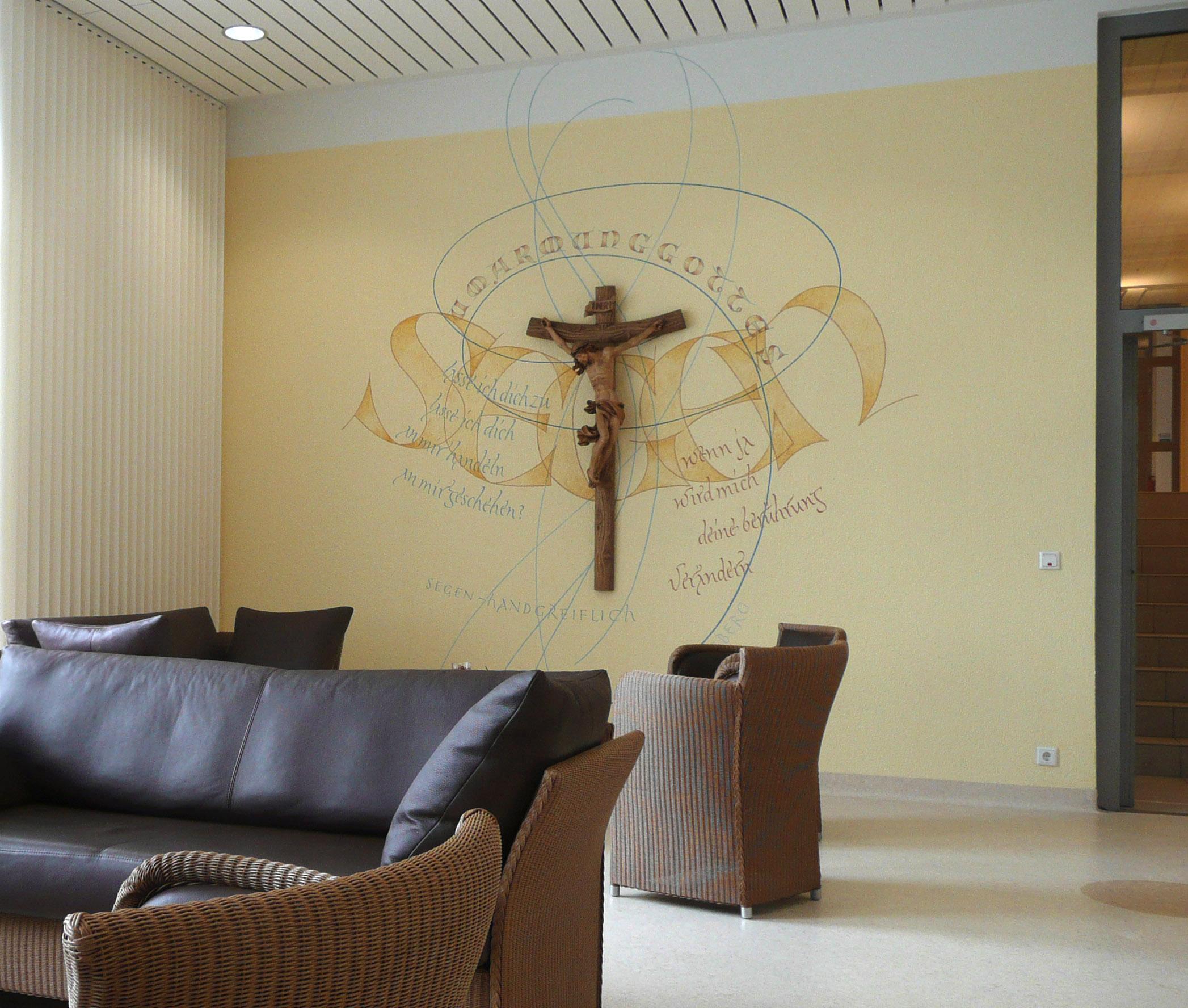 Marienstift Foyer Kalligrafie Wandgestaltung