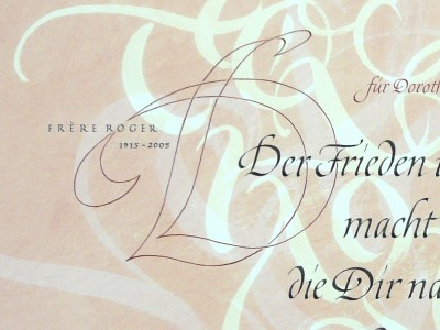 Outline D als Initial