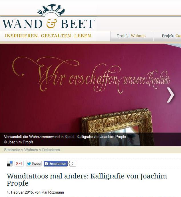 Titelbild Wand & Beet