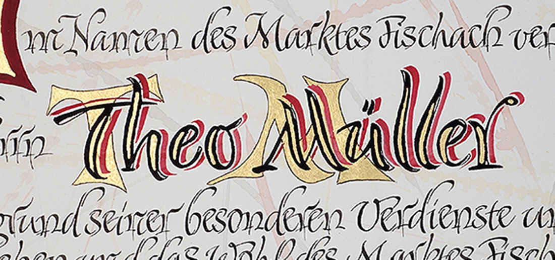 Kalligrafie Theo Mueller - Müller-Milch