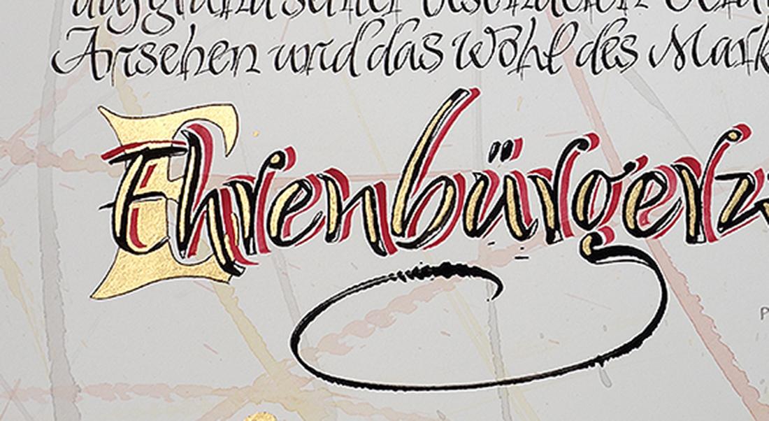 Ehrenbuerger Kalligrafie