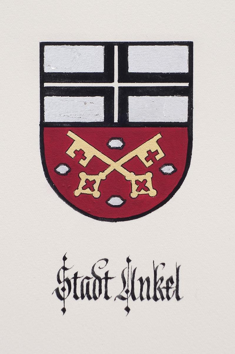 Wappen Unkel in Silber und Gold