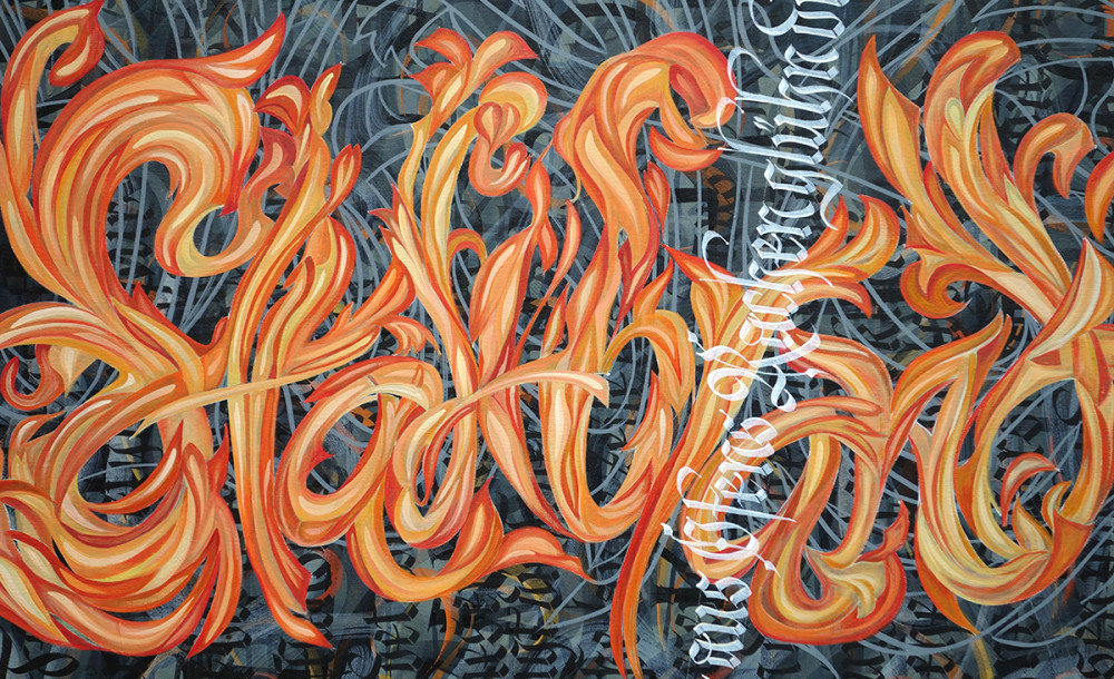 kalligrafisches Gemälde