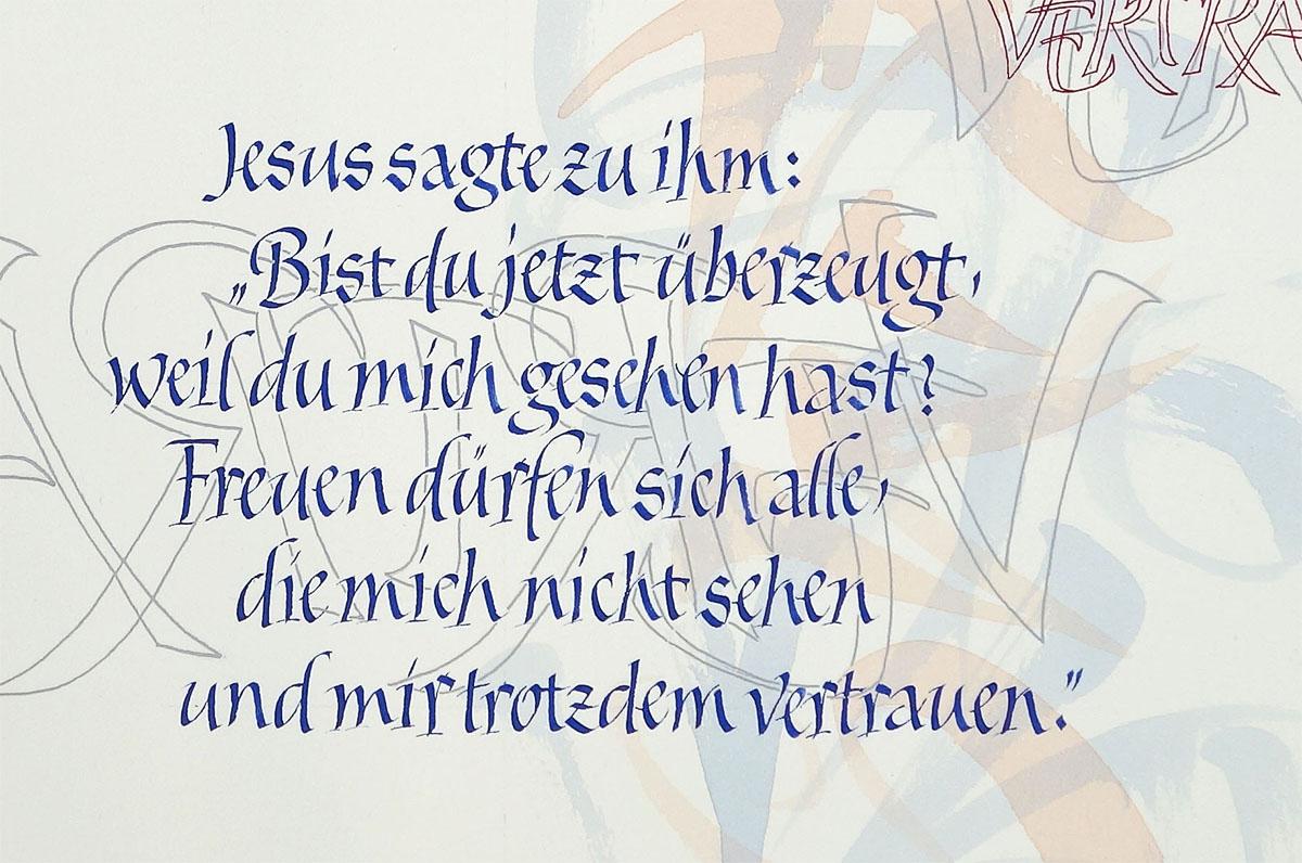 Kalligrafie mit Bandzugfeder