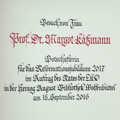 Eintragung in das Goldene Buch Wolfenbüttel