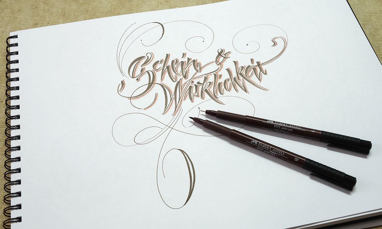 Fineliner Verzierung Schrift