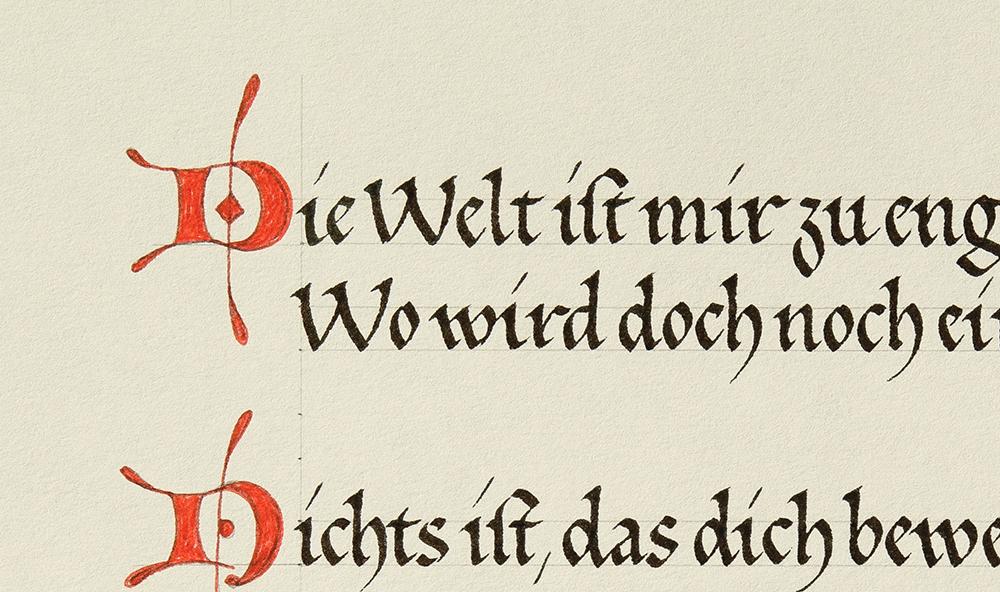Lonbarden mit Frühgotischer Buchschrift