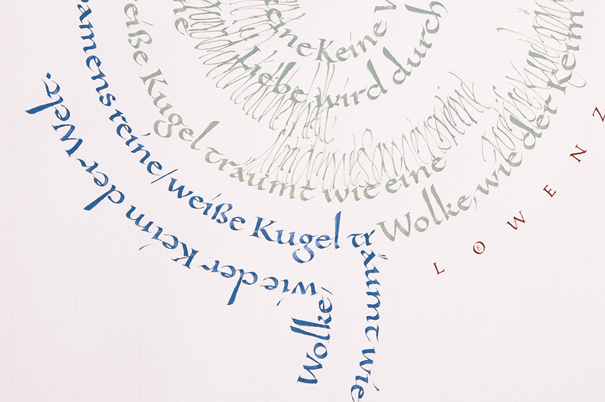 Gedicht in Karolingischer Minuskel