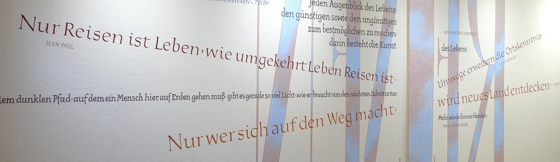 Kalligrafie propfe wandkalligrafie seniorenheim - Jugendstil wandgestaltung ...
