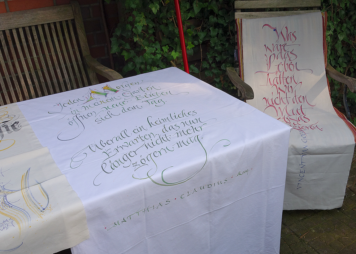 kalligrafierter Wandbehang