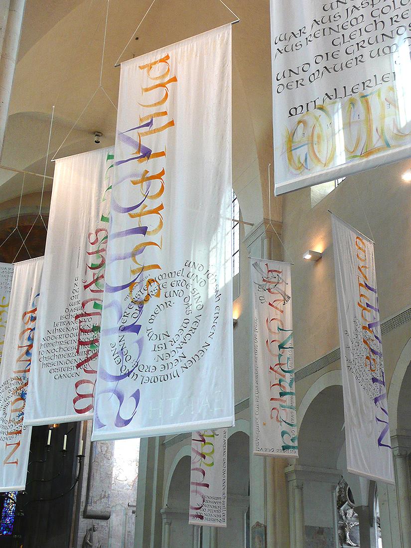 Kalligrafie auf Textilien