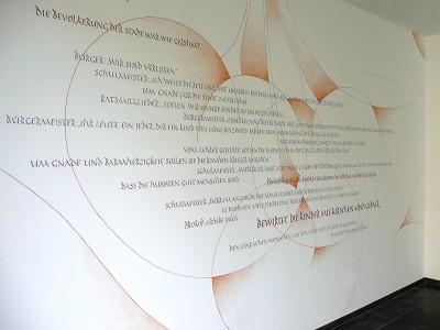 Wandgestaltung Kirschfest