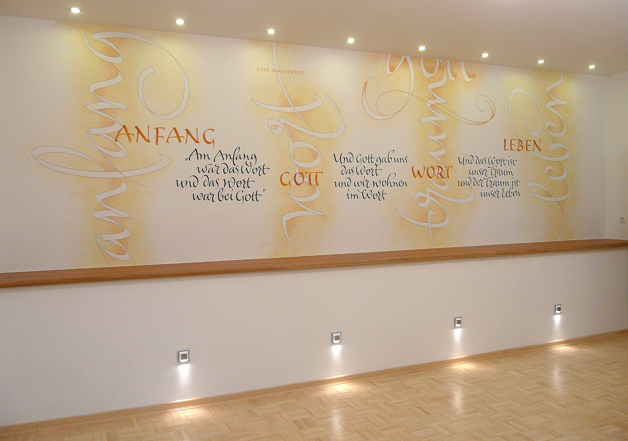 Kalligrafie Gedicht Rose Ausländer