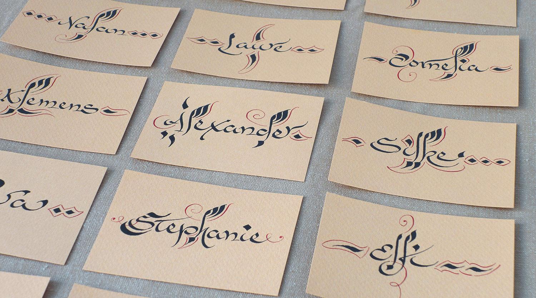 Tischkarten Namenskarten orientalisch