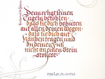 Kalligrafie Fraktur Takufspruch
