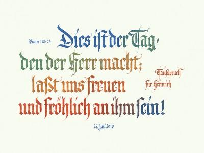 Fraktur Schönschrift