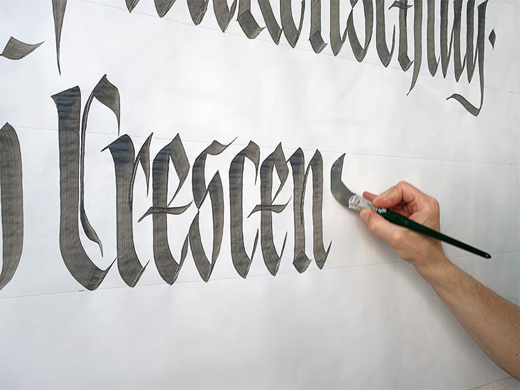 Fraktur Kalligrafie