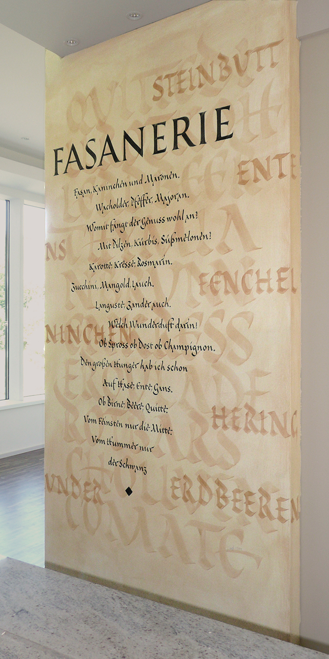 Innenarchitektur Kalligrafie Wand