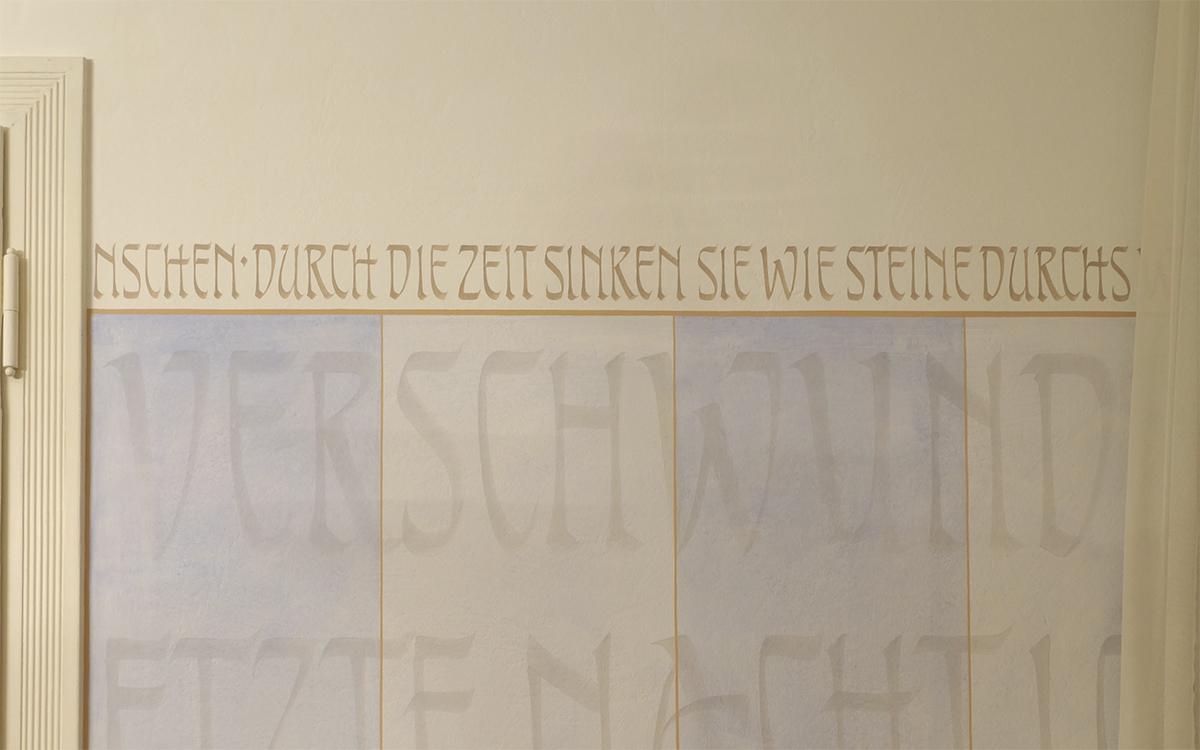Kalligrafie propfe jugendstil neu interpretiert - Jugendstil wandgestaltung ...