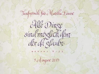 Spruch zur Taufe