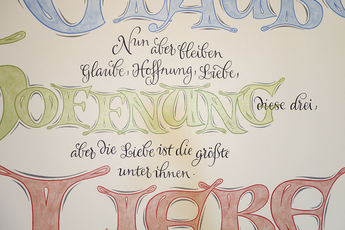 Wand-Lettering