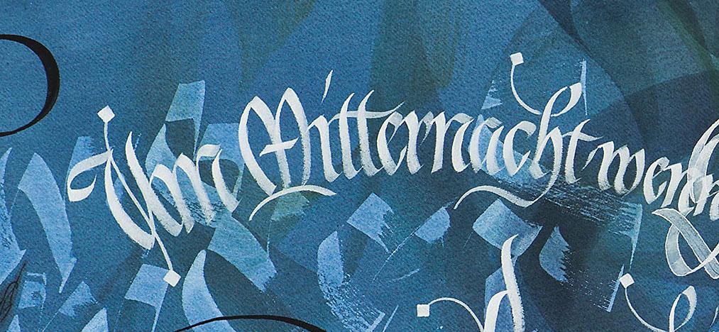 Gotische Bastarda Kalligrafie