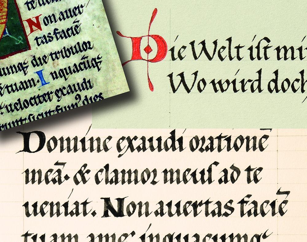 Kalligrafie Gotische Buchschrift