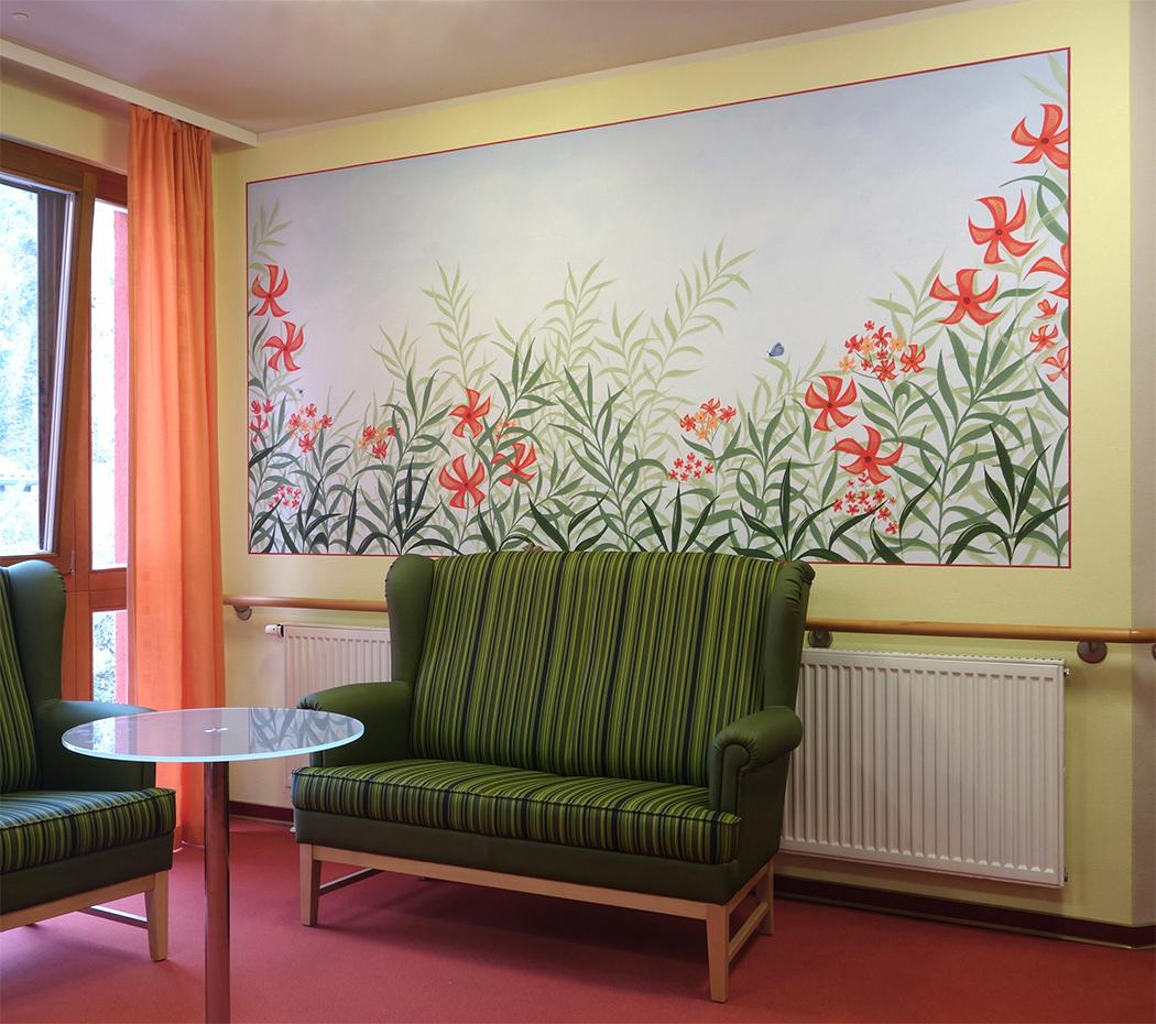 Wandbild mit Oleander