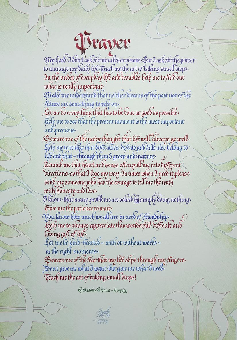 Gebet von Antoine de Saint-Exupéry