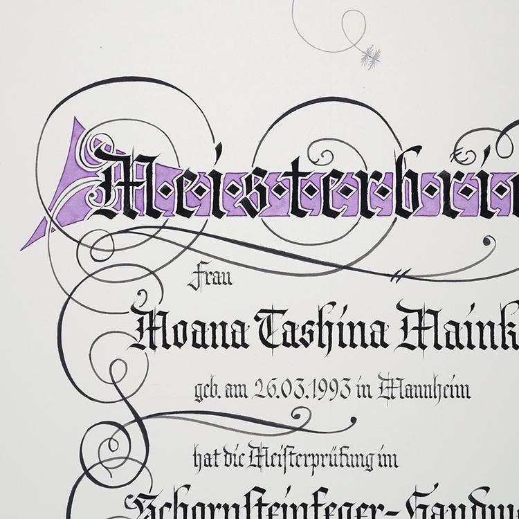 Meisterbrief Schornsteinfeger-Handwerk