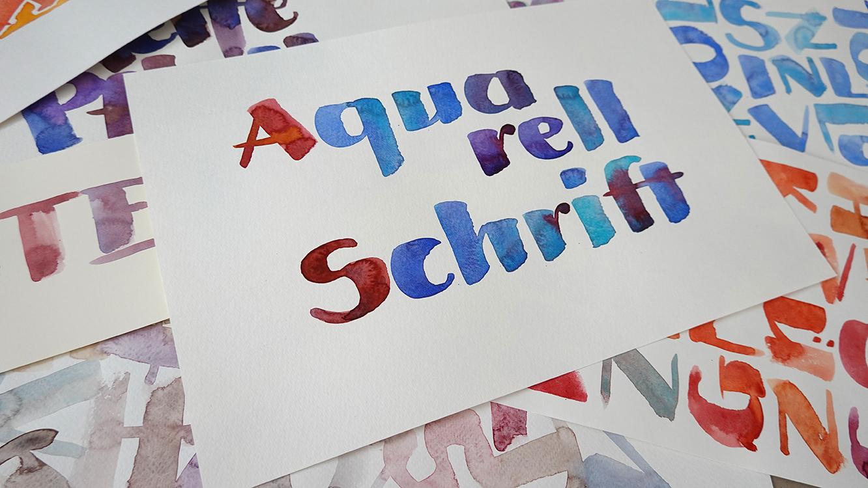 Tutorials Kalligrafie Aquarellschrift